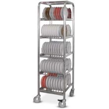 Dinex Mobile Drying/Storage Rack Only 20.50 x 22 x 78 inch for Smart-Therm Holds 90 Induction Base
