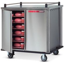 Stainless Steel Deluxe Tray Delivery Cart with Two Doors