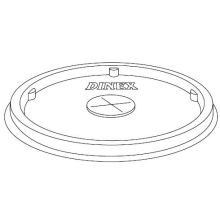 White Disposable Lid with Straw Slot Only