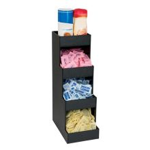 Black Polystyrene Four Section Countertop Condiment Organizer