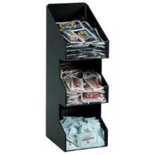 Dispense Rite VCO Black Polystyrene Countertop Organizer 16 x 5 1/4 x 6 5/8 inch