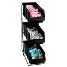 Dispense Rite WR-COND Black Wire Rack Condiment Organizer 18 3/8 x 5 3/4 x 15 3/4 inch