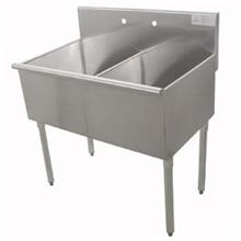400 Series Stainless Steel Square Corner Scullery Budget Sink 21X36 36 inch O.A.