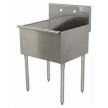 600 Series Stainless Steel Square Corner Scullery Budget Sink with 1 Compartment.21x18 18 inch O.A.