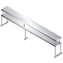 Table Mounted Single Tier Shelving For Existing Table 4 Feet