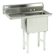 Stainless Steel Single Compartment Fabricated Sink with Drainboard
