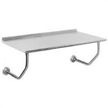 Stainless Steel Wall Mounted Table with Splash