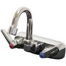 Extra Heavy Duty Splash Mounted Gooseneck Faucet