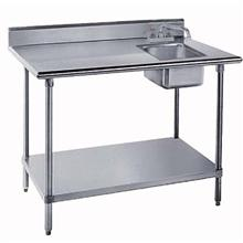 Stainless Steel Table with Right Side Sink