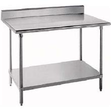 Premium Work Table Stainless Legs and Undershelf 5 in Back Splash 24 X 30 inch