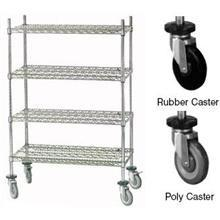 Mobile Cart with Rubber Caster