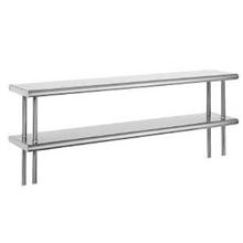 Double Deck All Welded Stainless Steel Table Mounted Shelf