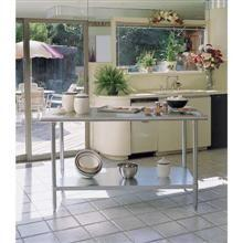 Stainless Steel Under Shelf Model Flat Top Bull Nose Edge Chef Table
