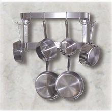 Wall Mounted Double Bar 18 Double Sided Pot Hook Rack 48 inch