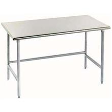 Spec-Line Stainless Steel Flat Top Work Table With Stainless Steel legs and Open Base Size 30X120