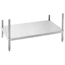 Mid and Undershelve with Galvanized Table