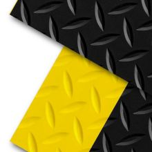 Black/Yellow Notrax Diamond Switchboard Mat 3 x 75 feet
