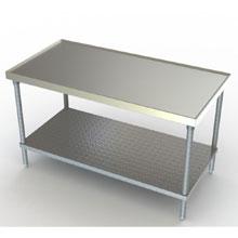 Aerospec Flat Top Galvanized Undershelf Work Table