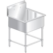 Aerospec One Compartment NSF Sink 21 inch wide