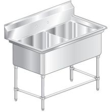 Aerospec Two Compartment NSF Sink 30 inch wide