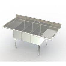 Stainless Steel 16 Gauge 2 Bowl Mop Sink