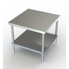Stainless Steel 16 Gauge Mixer Stand with Stainless Steel Undershelf