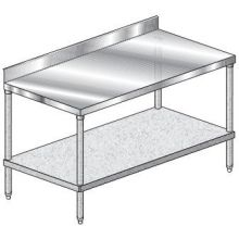 Premium 4 inch Backsplash Galvanized Undershelf Work Table