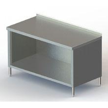 Premium 2 3/4 inch Backsplash Galvanized Enclosed Base Work Table