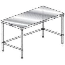 Premium Flat Top Stainless Steel Legs and Crossbracing Work Table