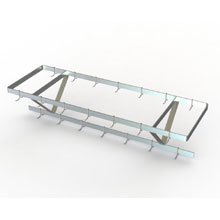 Stainless Steel Ceiling Mounted Pot Rack
