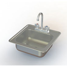 Aero Stainless 1 Compartment Drop In Hand Sink 15 x 15 inch