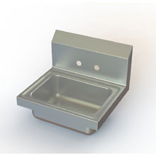 Aero Wall Mount Stainless Hand Sink 15 x 17 inch HS