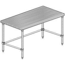 Galvanized X Bracing Maple Flat Top Work Table
