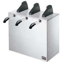 Server Triple Express Countertop Condiment Dispenser with Three Plastic Pump 17.5 x 16.375 x 13.312 inch