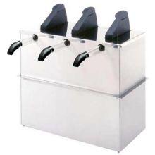 Server Triple Express Drop-In Condiment Dispenser with Three Plastic Pump 10.437 x 10.25 x 13.75 Inch