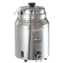 Server Stainless Steel Single Vessel Round Food Warmer Server with Ladle 500 Watt