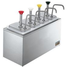 Server Non Insulated SR-4 Stainless Steel Syrup Rail Combo 16.062 x 20.125 x 8.812 inch