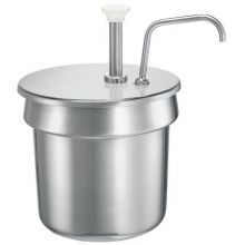 Server Stainless Steel Condiment Pump Only for 11 Quart Vegetable Inset 2.75 x 11.375 x 10.5 inch