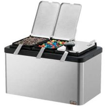 Server Insulated Combo Mini Bar with 2 of 1/9-Size Jar Lid and Ladle 9.437 x 10 x 8.25 inch