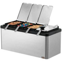 Server Insulated Combo Mini Bar with 4 of 1/9-Size Jar Lid and Ladle 9.437 x 18.062 x 8.25 inch