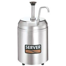 Server Countertop Chilled Cream Server with 3 Quart Holdcold Jar 14.937 x 7.75 x 10.437 inch