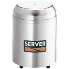 Server Espresso Chilled Cream Holder with 3 Quart Stainless Steel Jar 10.5 x 7.75 x 7.75 inch