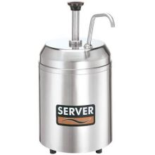 Server Countertop Chilled Cream Server with 2 3/4 Quart Holdcold Jar 14.937 x 7.75 x 10.437 inch