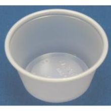 Solo Translucent Polystyrene Souffle Portion Cup 1 Ounce