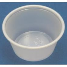 Solo Translucent Polystyrene Souffle Portion Cup 4 Ounce