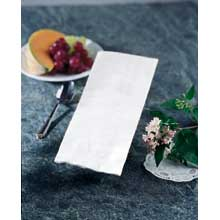 Hoffmaster K400 White 4Ply 8-Fold Dinner Napkins 17 x 20 inch - Greek Key Embossed 75 per pack