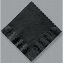 Hoffmaster 710-D13 Solid Black Color 1Ply Coin Embossed Beverage Napkin 10 x 10 inch