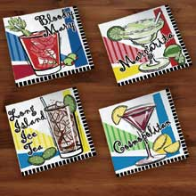 Overall Embossed 2 Ply Cocktail Multi Print Beverage Activities Napkin