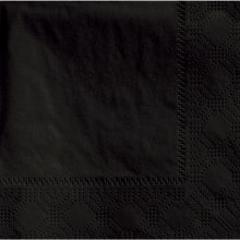 Beverage Black Napkin