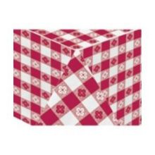 Hoffmaster 4108-DG11 Red Gingham Printed 2 Ply Tissue 1 Ply Poly Table cover - Banquet 54 x 108 in